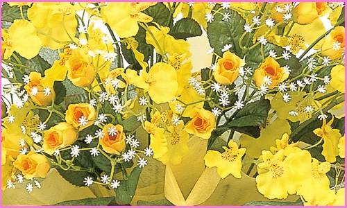 光の楽園(光触媒造花)ゴールドストライク拡大画像